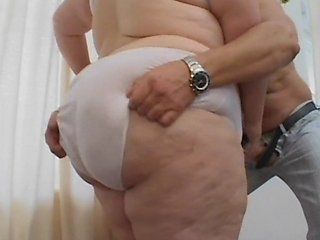 With this mammoth granny in desperate need of cock we definitely had an answer to her prayers. Locked in a room with one of our mature studs she had h