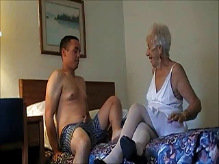 GRANNY MARG 90 FUCKED IN WHITE