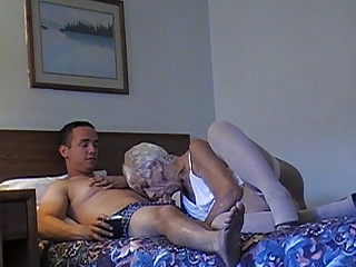 GRANNY 89 GETS FUCKED AND TAKES A FACIAL