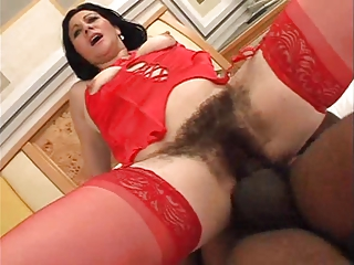 Mature Very Hairy Pussy - Anal and Cream Pie