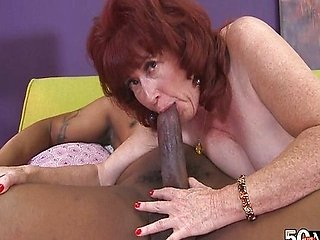 A big, black cock for Shirley's debut