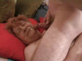 Real Grandma 81 does not Want to Swallow