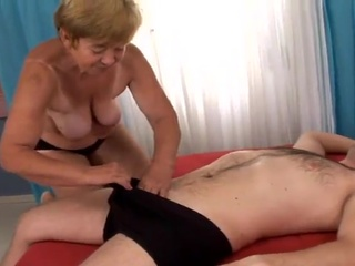 Spicy grandmother having made love big And Creampied
