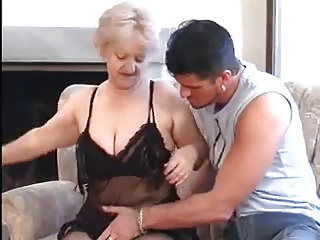 Granny Seduces Young Man