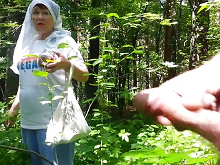 good grandmother in the forest