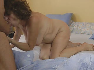 Mature and granny passion asshole and blowjob