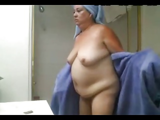 Mom showering hidden cam