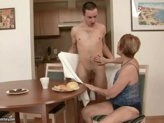Hot granny have sex with boys video