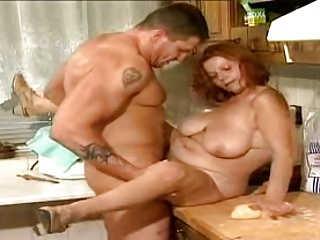 old latina olga is fucking a younger guy