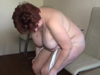 Fat grandma masturbation, sexy threesome, immature doll and boy
