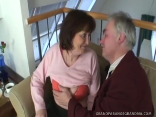 Big tit granny Ivana spunked good onto her taut hairy muff