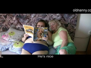 Two horny old ladies and playboy