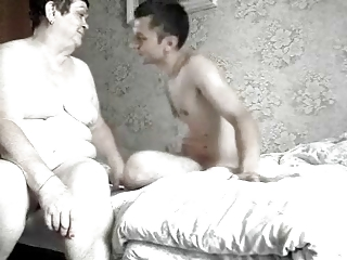 Granny and grandson in bed (hidden cam)