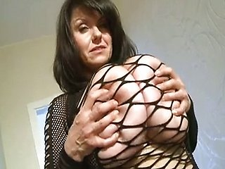 Mature woman with huge natural tits