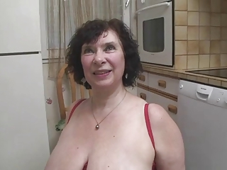 French BBW-Granny Olga hard fucked by young Arab