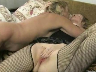 Blonde mature and  lesbians